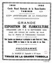 Tamines : Affiche du Cercle Royal d'Horticulture de la Basse-Sambre