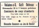 Concours de Coqs chantants à Velaine-sur-Sambre au café DELVAUX