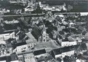 Falisolle : vue aérienne, prise au dessus de l'Eglise