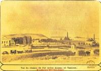 Tamines : vue du chemin de fer entre Aiseau et Tamines