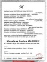 Avis de décès de Lucien MATHIEU (né à Falisolle le 18 juin 1923 - décédé à Auvelais le 16 avril 1990)