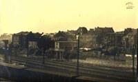 Tamines : vue des voies du chemin de fer depuis le pont