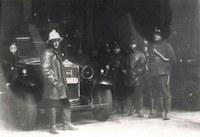 Tamines : pompiers et véhicule d'intervention