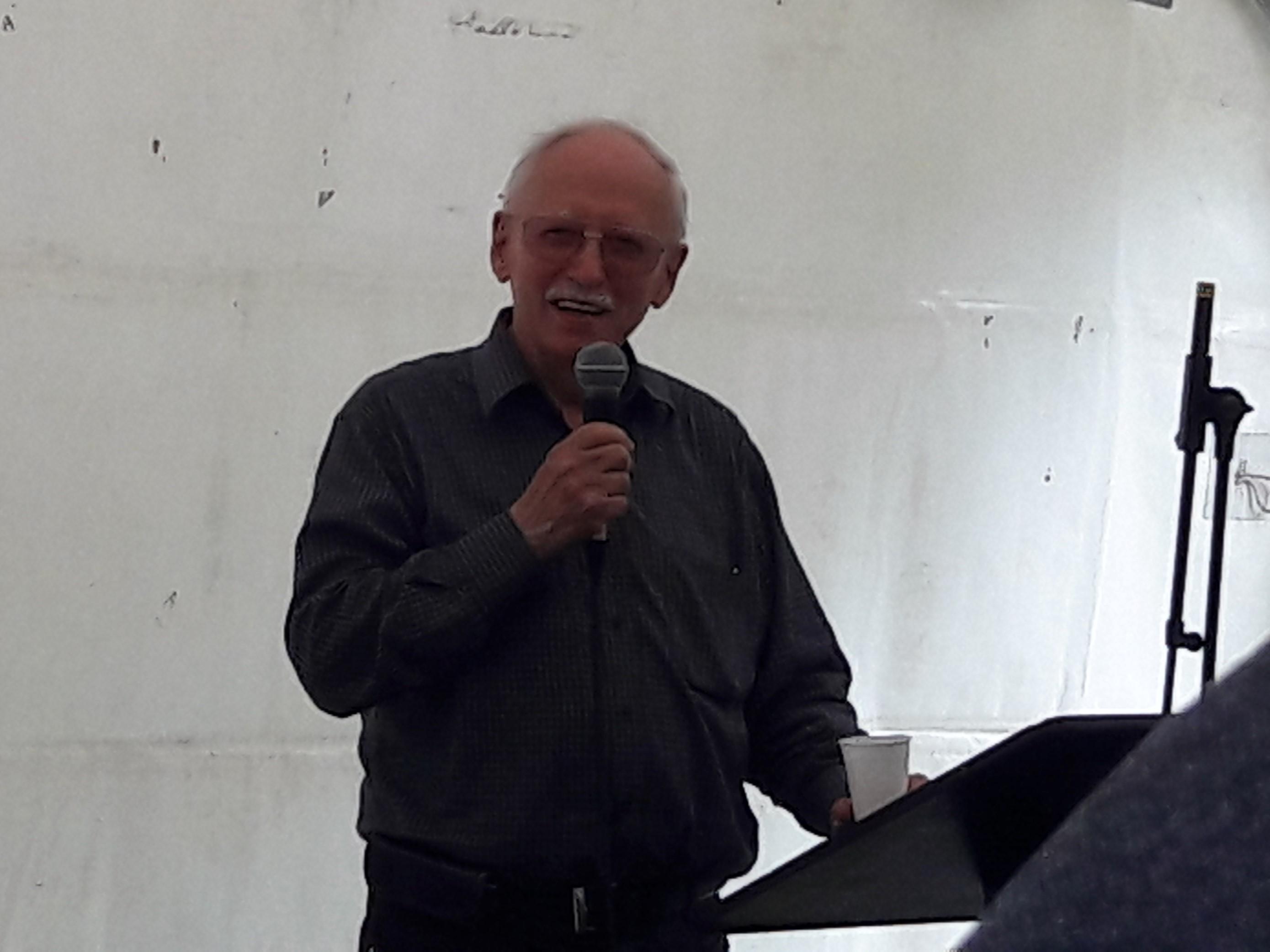 Willy LAMBILOTTE lors de son discours