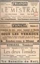 Auvelais : Cinéma le Trianon, Velaine sur Sambre : Le Familia, Tamines : Krusaal : Annonce du programme des séances de cinéma