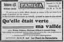 Velaine-sur-Sambre : film programmé au cinéma Familia