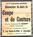 Auvelais : réouverture du cours de coupe et de couture