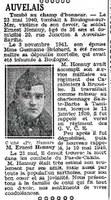 HENNUY Ernest. Tombé au champ d'honneur