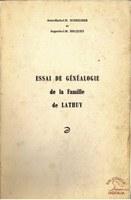 Essai de Généalogie de la famille de LATHUY