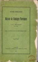 Histoire généalogique de la Maison de Rumigny-Florennes. Extrait du tome XIX des Annales de la Société archéologique de Namur