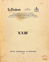 """Les Ascendants du Chevalier Ado Malevez, descendant des lignages de Bruxelles, in Revue """"Le Parchemin"""", XXIII"""