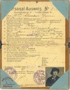 Ausweis n°3632 délivré à Eugénie RICHIR, Veuve DEPREZ + livret de protection cartonné
