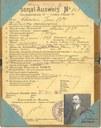 Ausweis n°908 délivré à Jean-Baptiste CHARLIER + livret de protection cartonné
