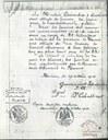 Document officiel du Gouvernements Intendantur