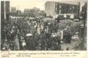 Manifestation patriotique du 25 mai 1919 à la mémoire des martyrs de Tamines. Défilé du cortège