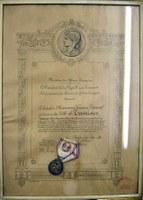 Médaille de la Reconnaissance Française en vermeil décernée à la Ville de Tamines