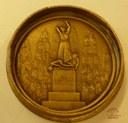 Médaille représentant le Monument aux martyrs de Tamines