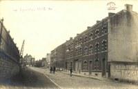 Tamines en face de la gare en 1914