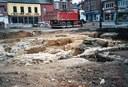 Fouilles archéologiques faites sur la Place d'Auvelais
