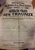 Affiche : Construction du chemin de la Basse-Sambre