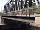 Auvelais : passerelle du pont du chemin de fer