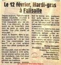12 février, Mardi-Gras à Falisolle