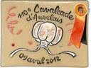 Plaque cémarique commémorant le 110e anniversaire de la Cavalcade d'Auvelais - 9 avril 2012