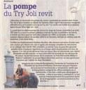 "Arsimont : ""La pompe du Try joli revit"""