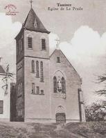 Tamines : Eglise de la Praile (façade)
