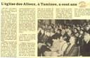 """Tamines : """"l'Eglise des Alloux à Tamines a cent ans"""" 1887-1987"""