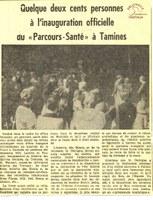 """Tamines : inauguration officielle du """"Parcours-Santé"""""""