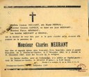 Avis de décès de Charles MEURANT