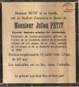 Avis de décès : Julien PETIT
