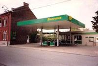 Auvelais : ancienne pompe à essence BP rue  du Rominet