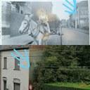 Auvelais : rue des Glaces nationales publicité murale