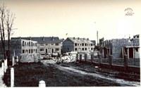 Tamines : construction de maisons dans le rue du Foyer