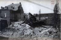 Tamines : maison bombardée lors de la seconde guerre