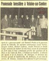 Velaine-sur-Sambre : inauguration du circuit de promenade forestière
